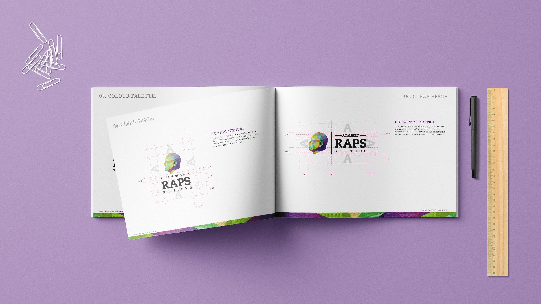 Titelbild Mockup Adalbert-Raps-Stiftung Corporate Design Manual