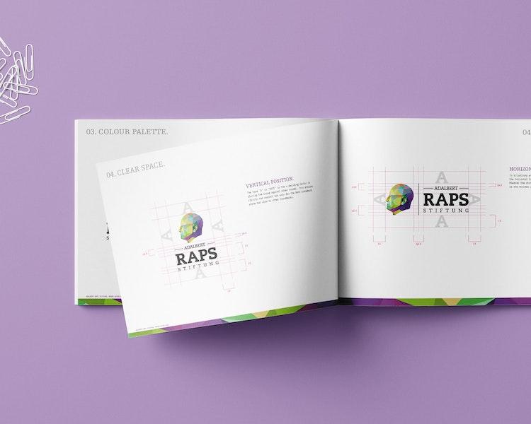 Vorschaubild Mockup von Adalbert-Raps-Stiftung Corporate Design Manual