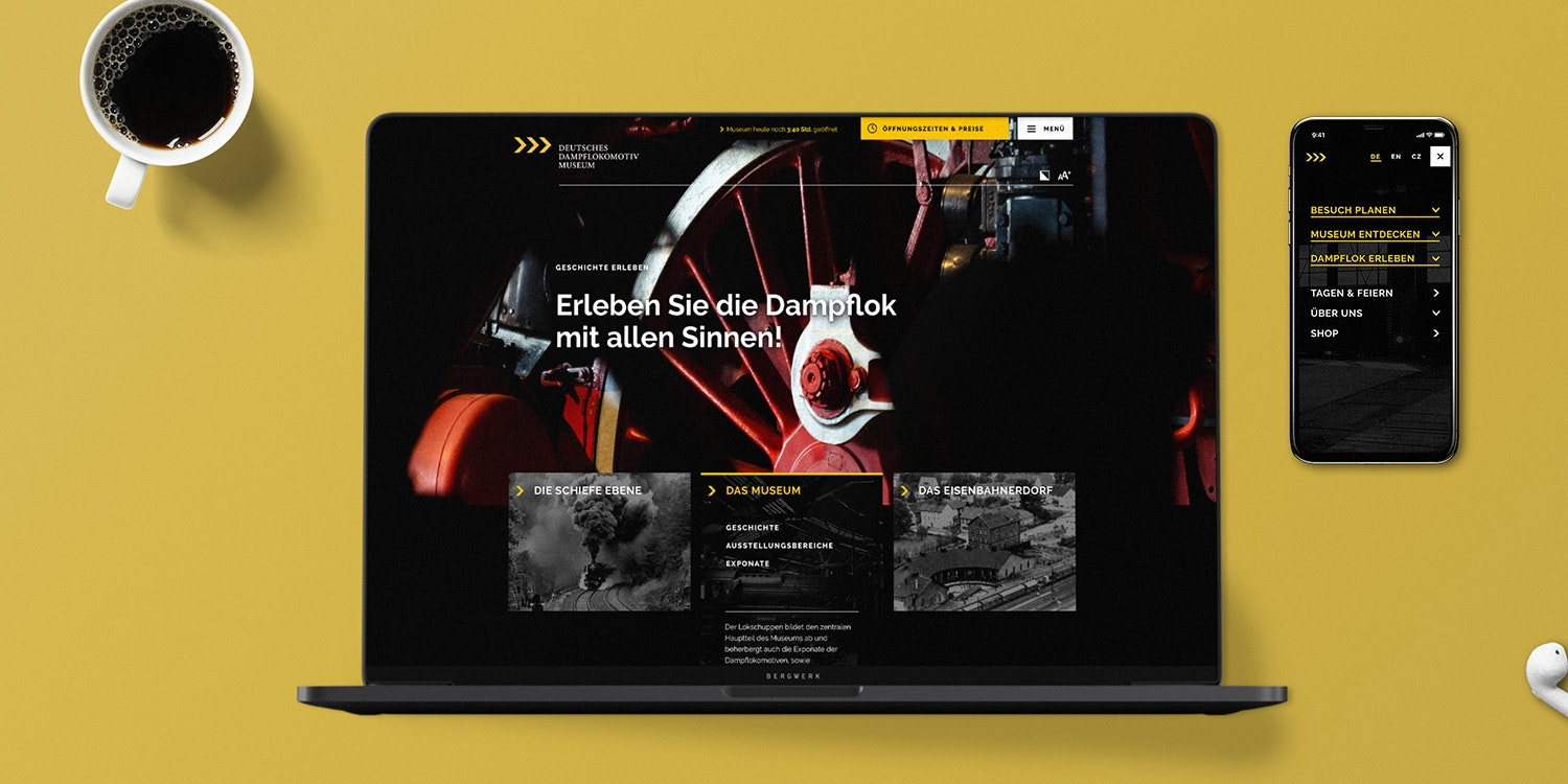 Mockup DDM Website Konzept