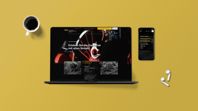 Mockup DDM Website Konzept