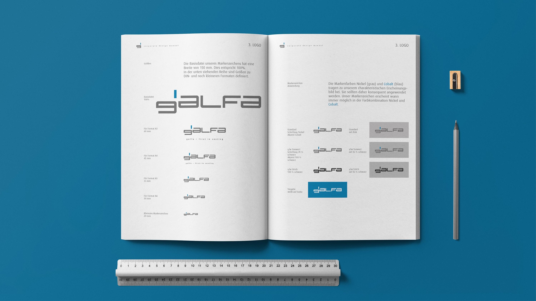 Mockup Galfa Corporate Design Manual