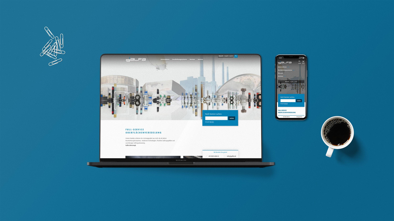 Mockup Galfa Website