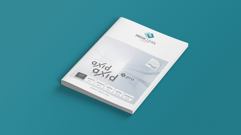 Mockup Highclean Group Eigenmarkenbroschüre