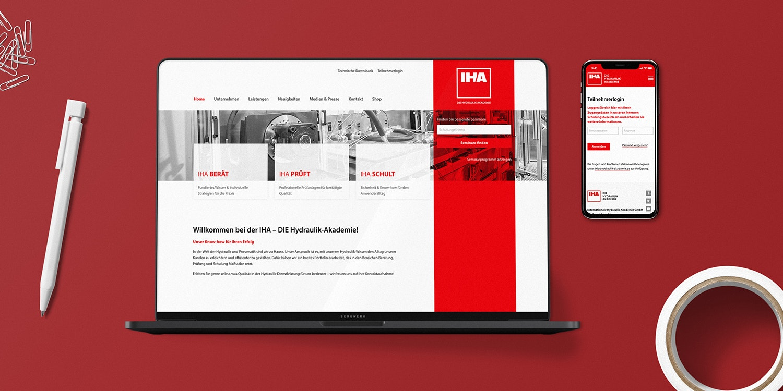 Mockup IHA Website