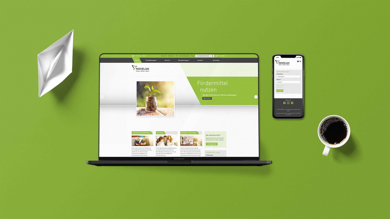 Mockup NOVELAN Website