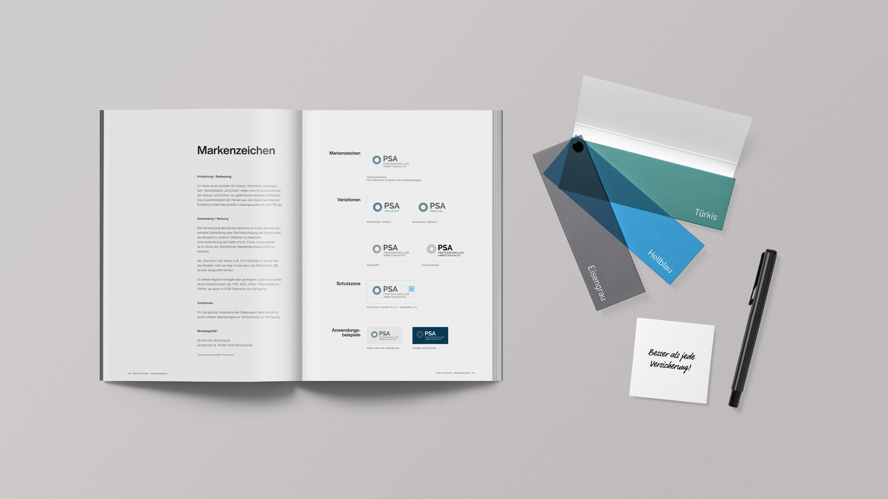 Mockup PRA Profi Corporate Design Manual